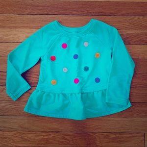 Cat & Jack 4T Aqua pullover sweatshirt